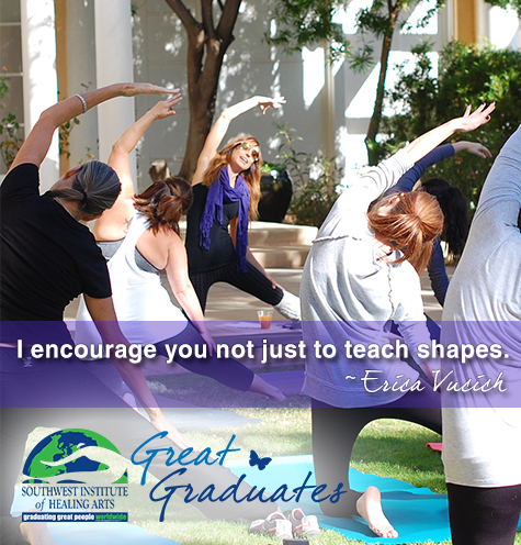 erica vucich swiha great graduate yoga teacher