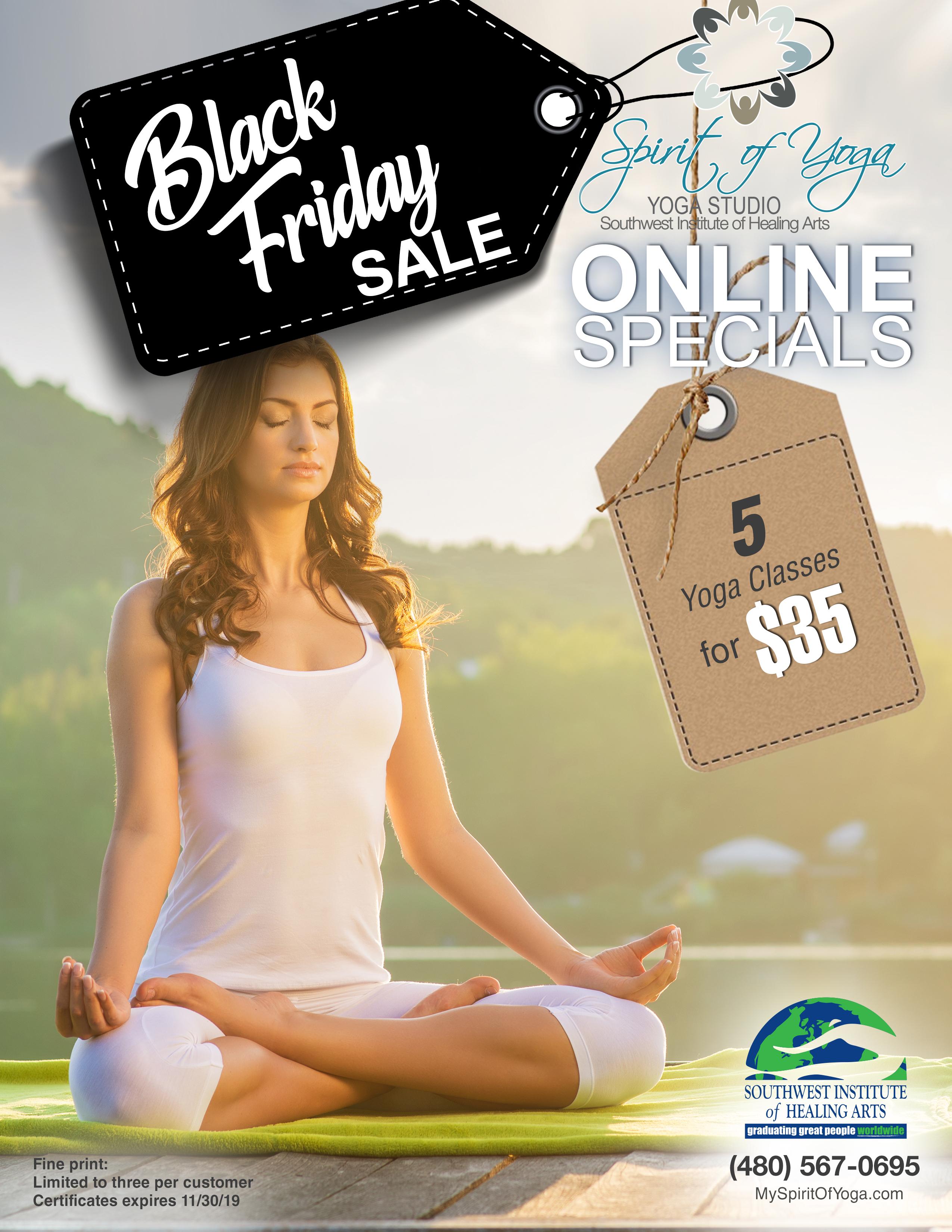 SOY Yoga Studio November Special