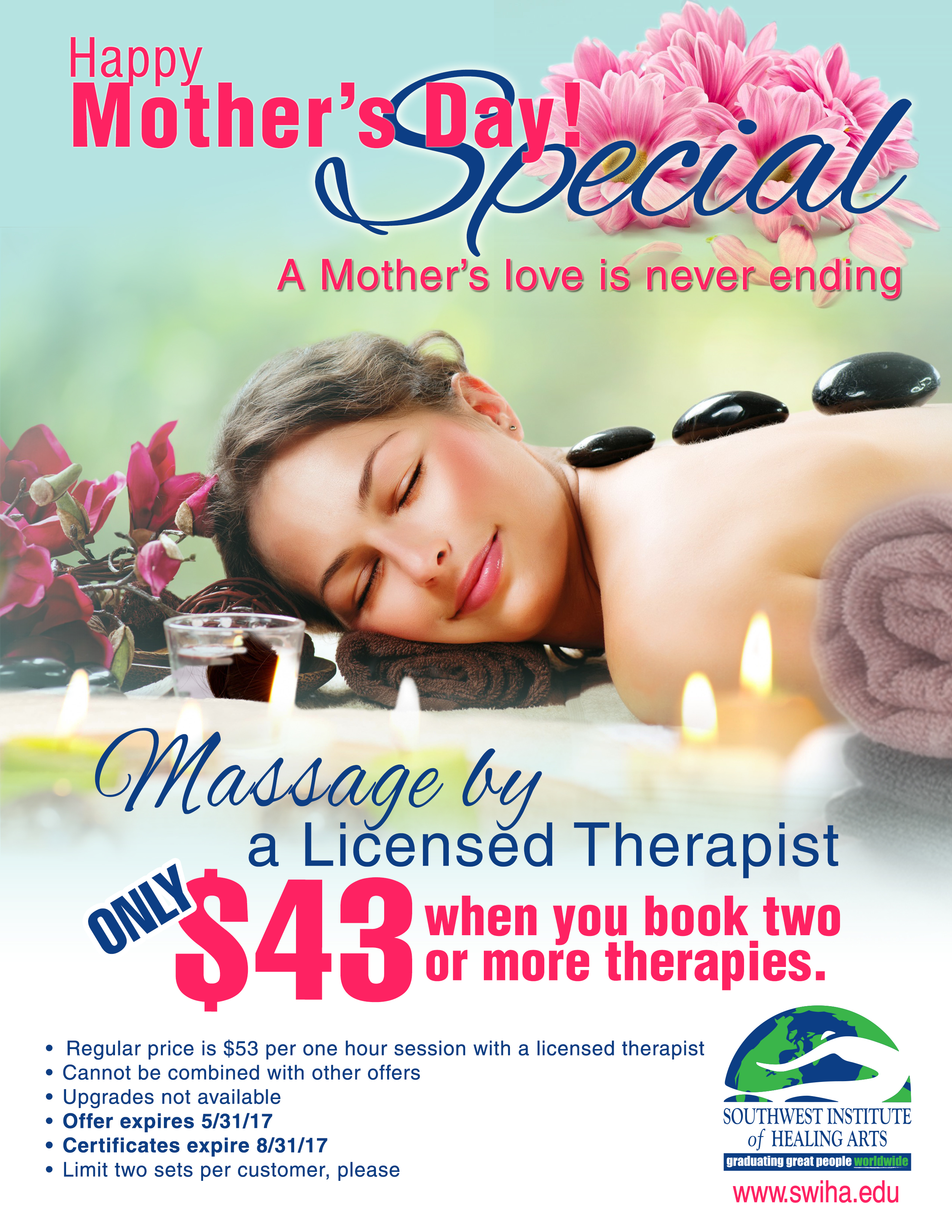 SWIHA Massage Clinic May Special