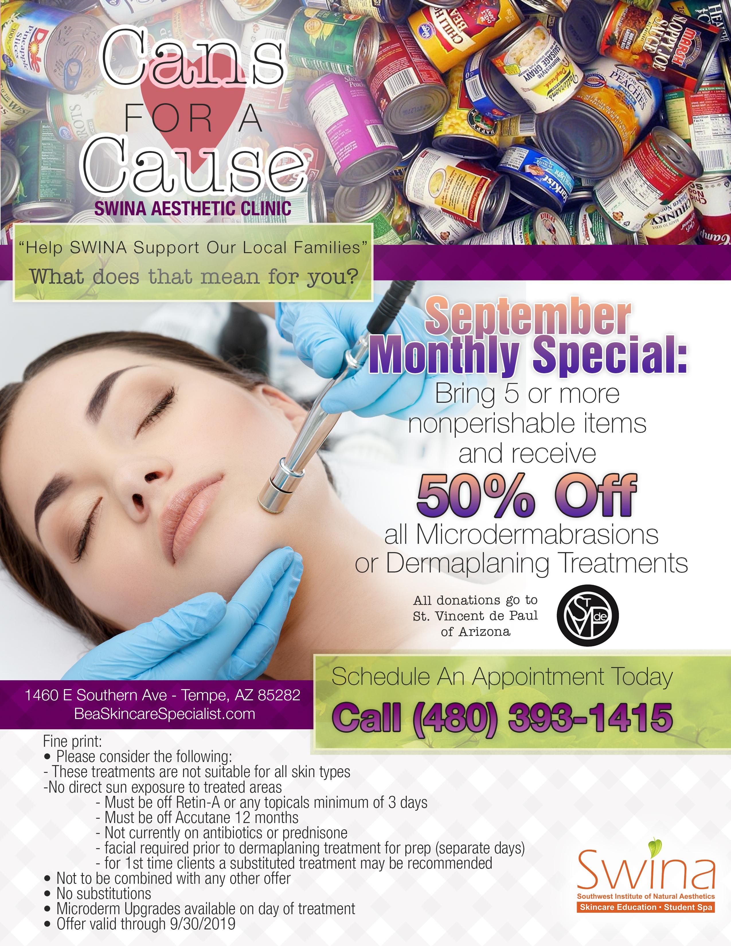 SWINA Clinic September Special